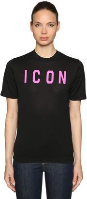 DSQUARED2 Icon Printed Cotton Jersey T-Shirt