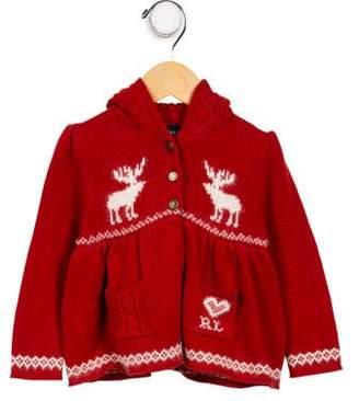 Ralph Lauren Girls' Fair Isle Knit Cardigan