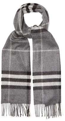 Burberry - House Check Cashmere Scarf - Mens - Grey