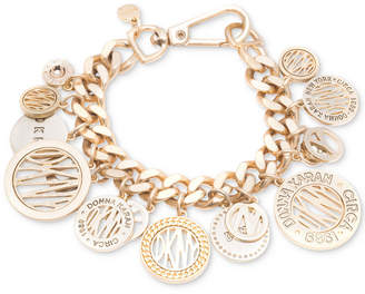 DKNY Gold-Tone Logo Charm Bracelet, Created for Macy's