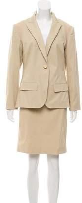 Alexander McQueen Rib Knit-Accented Skirt Set