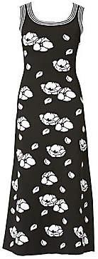 Carolina Herrera Women's Floral Knit Midi Dress