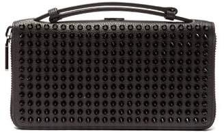 5a24b141e736 Christian Louboutin Panettone Xl Spike Stud Leather Wallet - Mens - Black