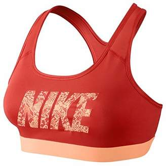 Nike Women's Pro Classic Logo Compression Sports Bra