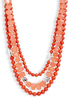 Simon Sebbag Triple Strand Stone Necklace