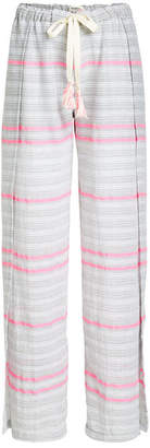 Lemlem Striped Wide Leg Cotton Pants