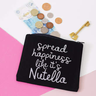 Nell Elsie & 'Spread Happiness Like It's Nutella' Coin Purse