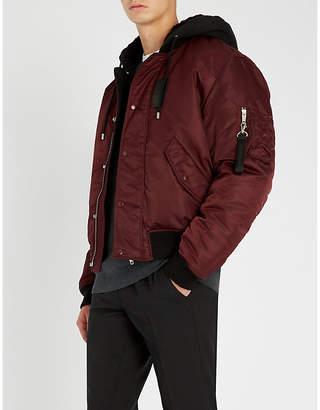 The Kooples Hooded shell bomber jacket
