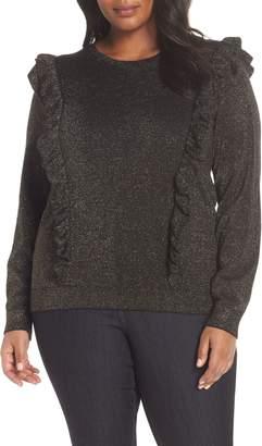 MICHAEL Michael Kors Ruffle Metallic Sweater