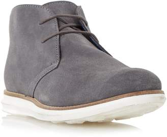 Dune Mens COVE Suede Hybrid Wedge Sole Chukka Boot in Grey