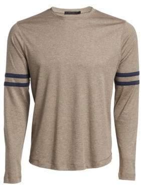 Saks Fifth Avenue MODERN Varsity Stripe Long Sleeve Shirt