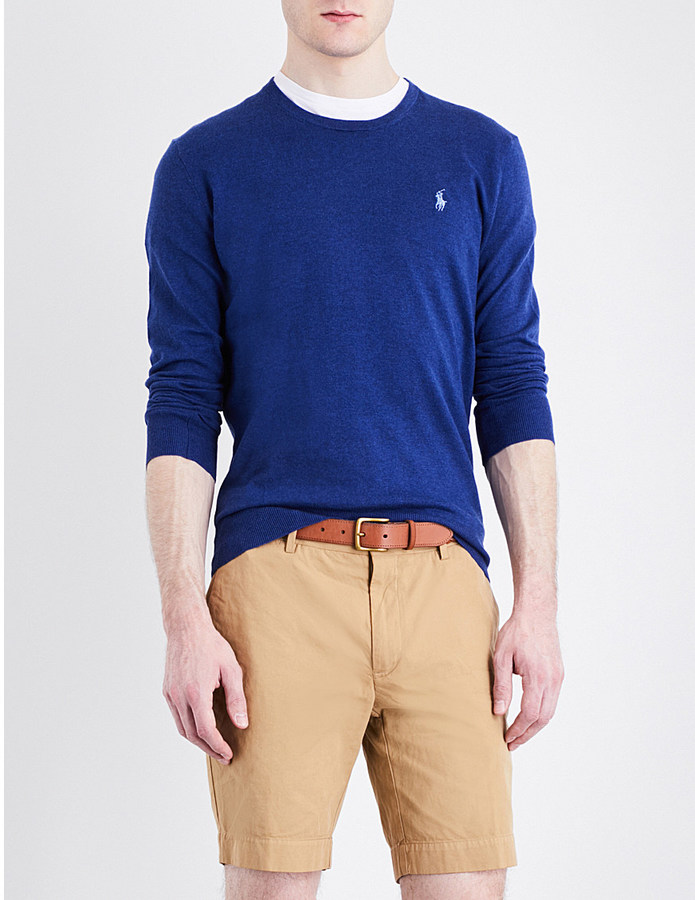 Polo Ralph Lauren Polo Ralph Lauren Slim-fit crewneck cotton and cashmere-blend jumper