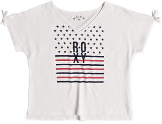Roxy Graphic-Print Cotton T-Shirt, Big Girls