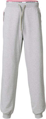 Moschino faux-boxer trim jogging bottoms