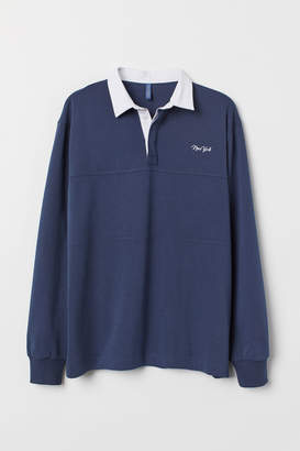 H&M Cotton Rugby Shirt - Blue