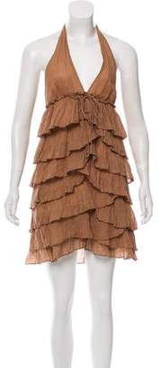 Elizabeth and James Ruffled Halter Dress