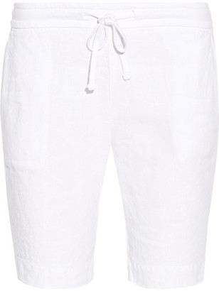 James Perse - Linen Shorts - White $175 thestylecure.com