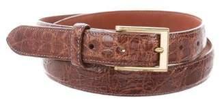 Barneys New York Barney's New York Crocodile Buckle Belt