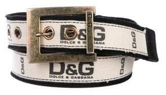 Dolce & Gabbana Logo Woven Belt