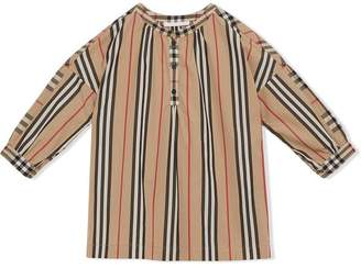 Burberry Icon stripe and vintage check blouse