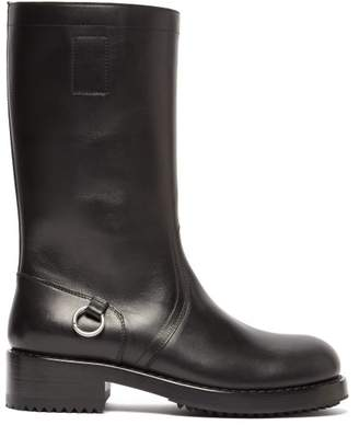 Raf Simons Metal Ring Leather Boots - Mens - Black