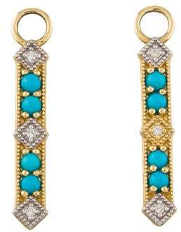 Jude Frances 18K Turquoise & Diamond Earring Enhancers