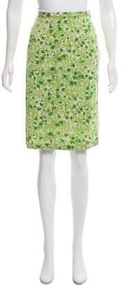 Diane von Furstenberg Silk Knee-Length Printed Skirt