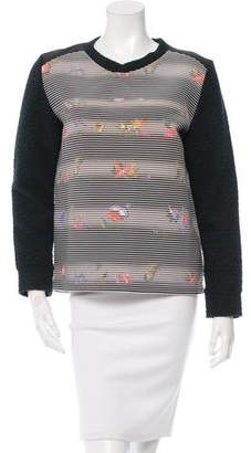 Roseanna Leather-Trimmed Mia Sweater w/ Tags