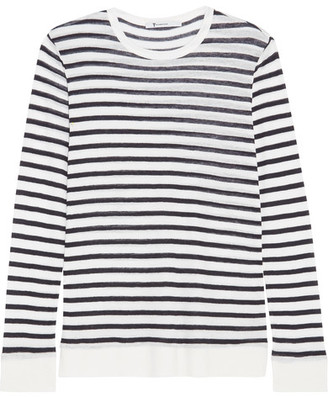 T by Alexander Wang - Striped Jersey Top - Ivory $140 thestylecure.com