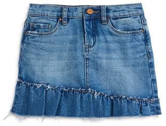 Blank NYC BLANKNYC Girls' Ruffled Denim Skirt - Big Kid