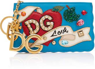 Dolce & Gabbana Appliquéd Leather Coin Purse