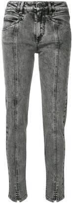 Givenchy high-waist lightning bolt jeans