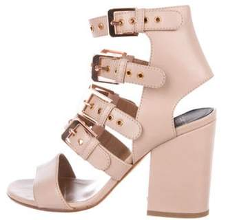 Laurence Dacade Leather Round-Toe Sandals Nude Leather Round-Toe Sandals