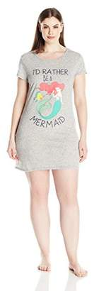Disney Women's Plus Ariel Sleep Dorm Shirt $23.99 thestylecure.com