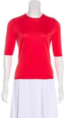 Salvatore Ferragamo Short Sleeve Knit Top