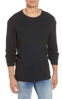 Frame Waffle Knit Slim Fit Cotton Crewneck Shirt