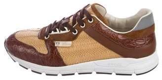 Gucci Raffia Low-Top Sneakers
