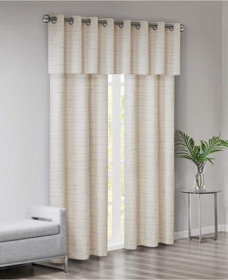 Piké 510 Design Grasscloth Room Darkening Grommet 40 X 84 3 Pc Window Curtain Set