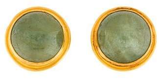 Yossi Harari 24K Beryl Clip-On Earrings
