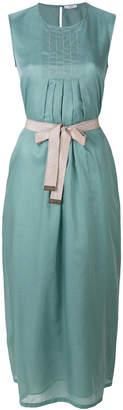 Peserico long belted dress