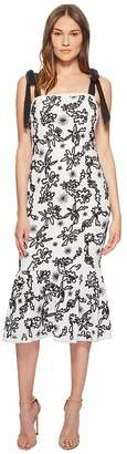 Rachel Zoe Lily Embroidered Midi Dress Women's Dress