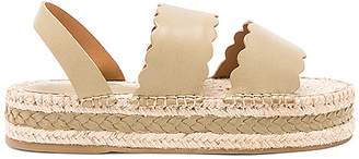 Zimmermann Scallop Espadrille Sandal in Olive $450 thestylecure.com