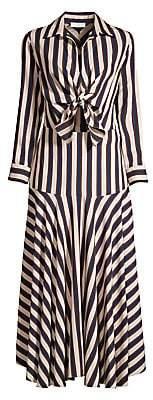 Sandro Women's Vilna Striped Tie-Front Shirtdress