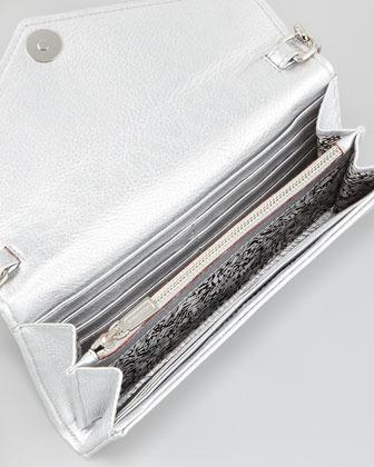 Rebecca Minkoff Studded Chain-Strap Wallet, Silver