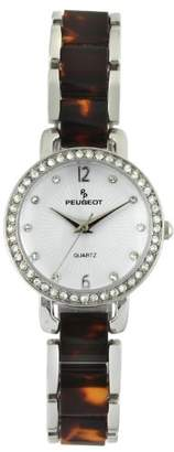 Peugeot Women's 'Swarovski Crystal' Quartz Metal Dress Watch