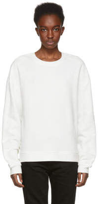 McQ Ivory Lace Slouchy Sweatshirt