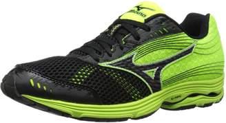 Mizuno Men's Wave Sayonara 3 Running Shoe, Black/Neon Yellow