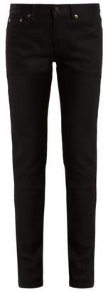 Saint Laurent Mid Rise Denim Skinny Jeans - Womens - Black