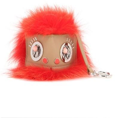 Fendi Bag Bugs leather and fur charm