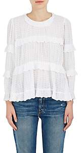 Etoile Isabel Marant Women's Ykaria Cotton Fil Coupé Blouse - White